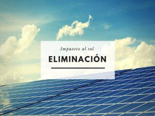 Eliminación del impuesto al sol